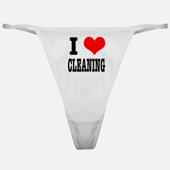 I Heart (Love) Cleaning Classic Thong