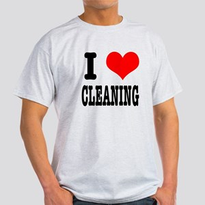 I Heart (Love) Cleaning Light T-Shirt