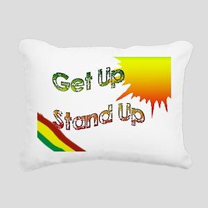get up  stand up Rectangular Canvas Pillow
