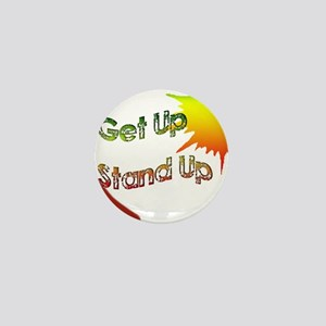 get up  stand up Mini Button