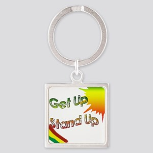 get up  stand up Square Keychain