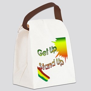 get up  stand up Canvas Lunch Bag