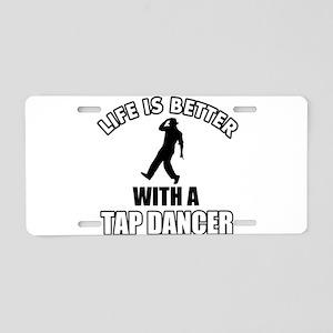 TAP-DANCE dance designs Aluminum License Plate