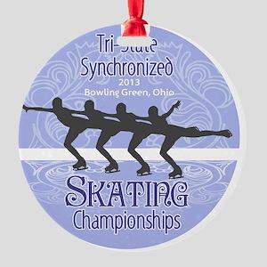 Tri-States Synchronized Skating Cha Round Ornament