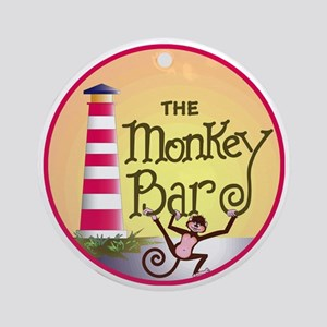 Monkey Bar Logo Round Ornament