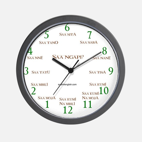 "Clock face ""Saa ngapi?"" Wall Clock"