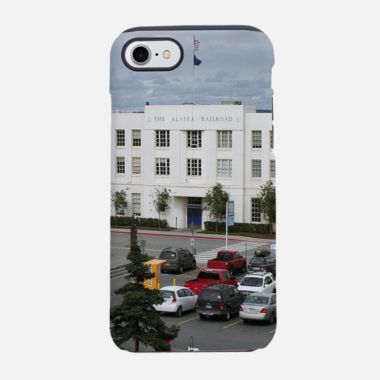 Alaska Railroad Station, Ancho iPhone 7 Tough Case