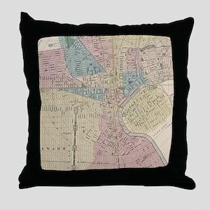 Vintage Map of Newark NJ (1879) Throw Pillow