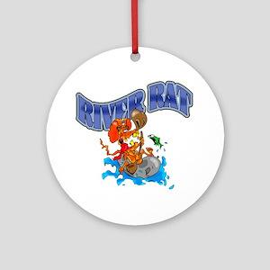 RIVER RAT Round Ornament