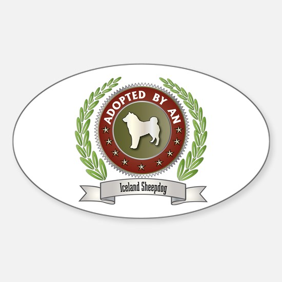 Sheepdog Adopted Oval Decal