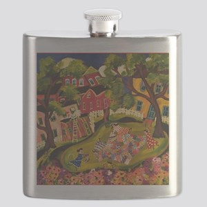 Crazy Quilters Flask