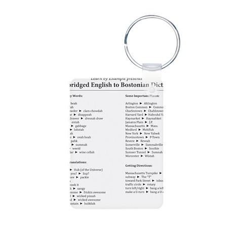 Boston-English Dictionary Aluminum Photo Keychain