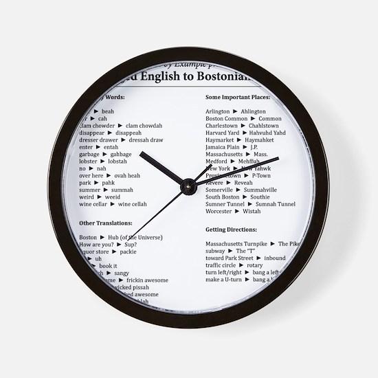 Boston-English Dictionary Wall Clock