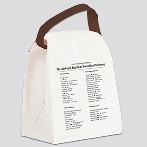 Boston-English Dictionary Canvas Lunch Bag