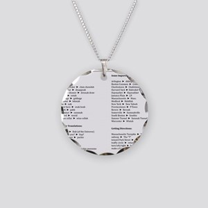 Boston-English Dictionary Necklace Circle Charm