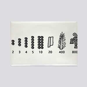 Aztec Numbers Rectangle Magnet