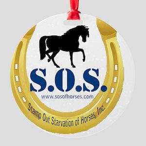 SOS Logo Round Ornament