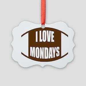 I Love Mondays Picture Ornament