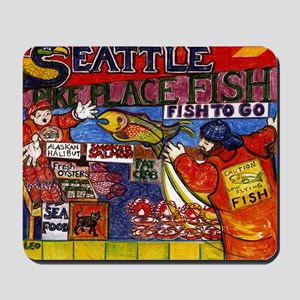 Seattle Fish Market Mousepad