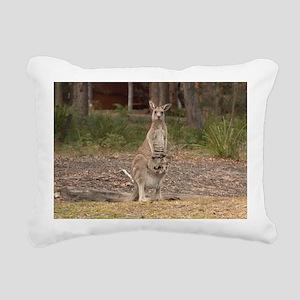 kangaroo9 Rectangular Canvas Pillow