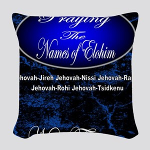 The Names of God Woven Throw Pillow