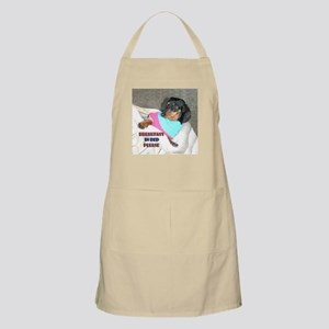 Breakfast In Bed Doxie Dog BBQ Apron