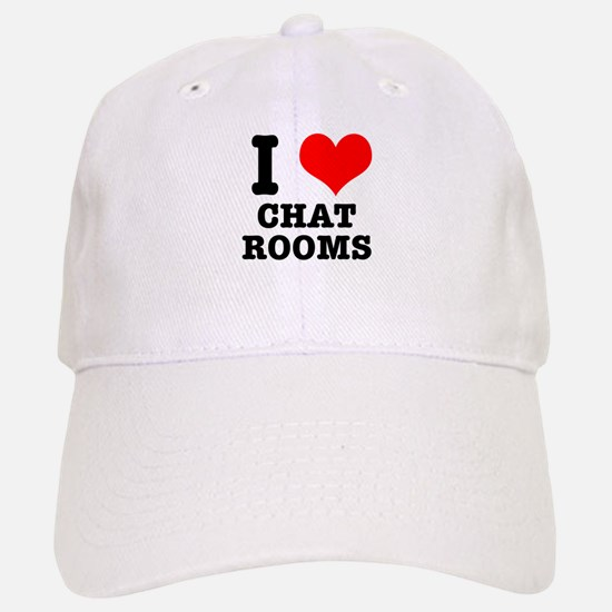 I Heart Love Chat Rooms Baseball Cap