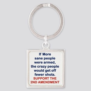 IF MORE SANE PEOPLE WERE ARMED... Square Keychain