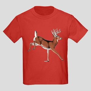 Whitetail Buck Kids Dark T-Shirt
