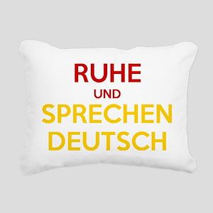 Halten Ruhe und Sprechen Rectangular Canvas Pillow