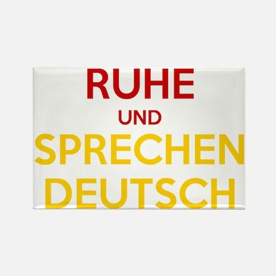 Halten Ruhe und Sprechen Deutsch Rectangle Magnet