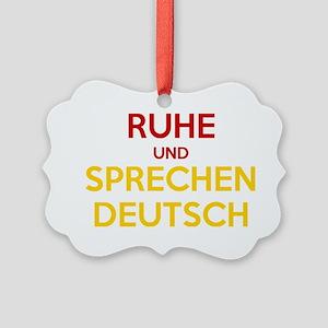 Halten Ruhe und Sprechen Deutsch Picture Ornament