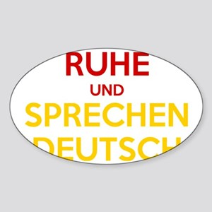 Halten Ruhe und Sprechen Deutsch Sticker (Oval)