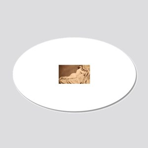 5 20x12 Oval Wall Decal