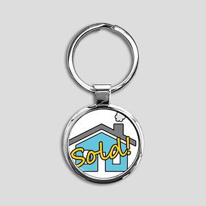House Sold! Round Keychain