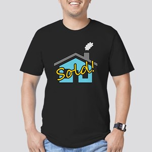 House Sold! Men's Fitted T-Shirt (dark)