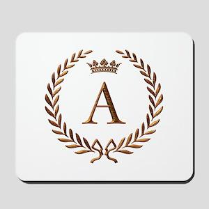 Napoleon initial letter A monogram Mousepad