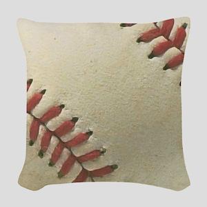 Baseball Woven Throw Pillow