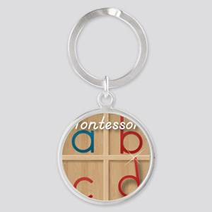 Mobile Montessori - Movable Alphabe Round Keychain