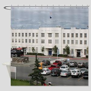 Alaska Railroad Station, Anchorage Shower Curtain