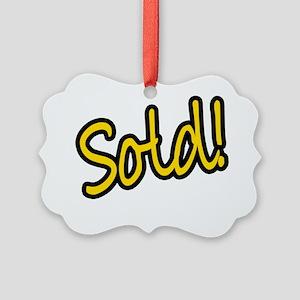 Sold! Picture Ornament