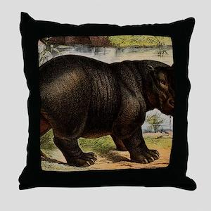Hippopotomus Throw Pillow