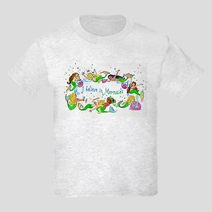 I Believe In Mermaids Kids Light T-Shirt