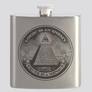 LOGIC IS AN ENEMY / TRUTH IS A MENACE Flask