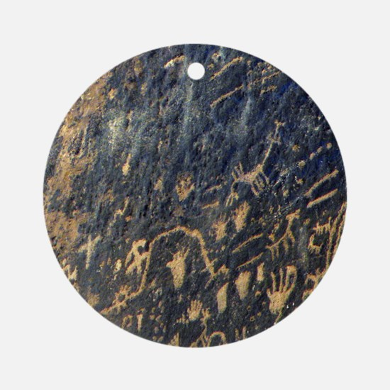 petroglyphs Round Ornament