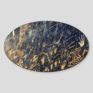 petroglyphs Sticker (Oval)