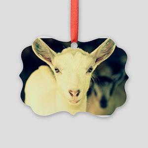 goat:  clotilde Picture Ornament