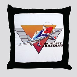 MIDGET MUSTANG Throw Pillow