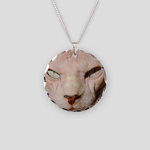 sphynx_eyes Necklace Circle Charm