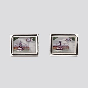 Passing Zone On Victoria Barge Canal Cufflinks